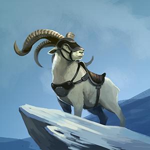 Woolly Mountain Goat